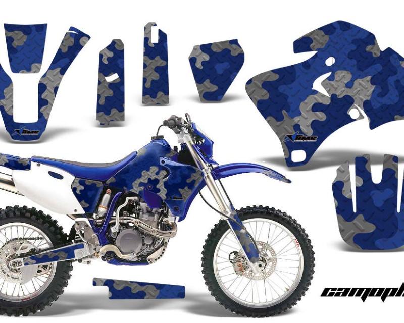 AMR Racing Dirt Bike Graphics Kit Decal Wrap For Yamaha WR 250F |400F |426F 1998-2002áCAMOPLATE BLUE