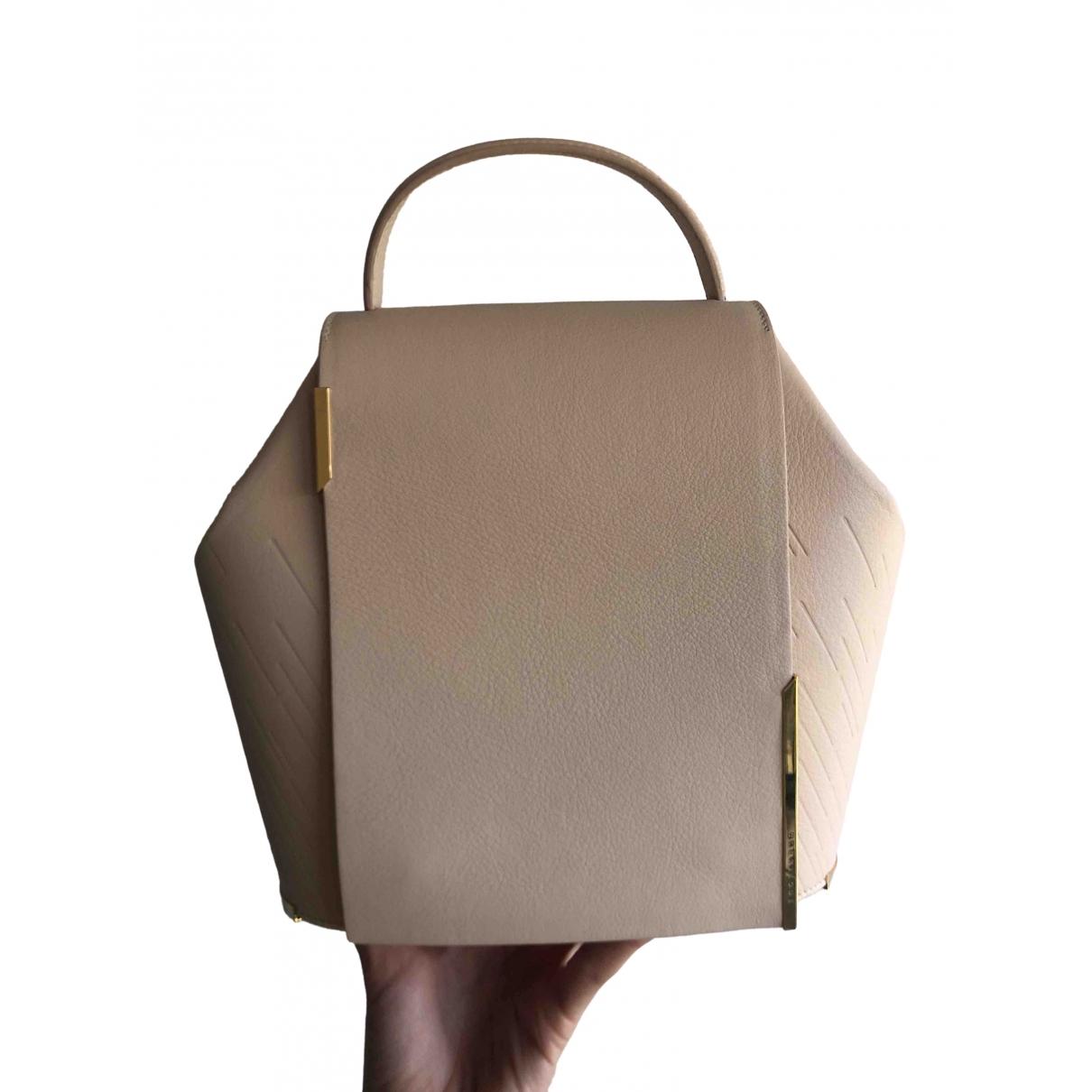 Onesixone \N Handtasche in  Beige Leder
