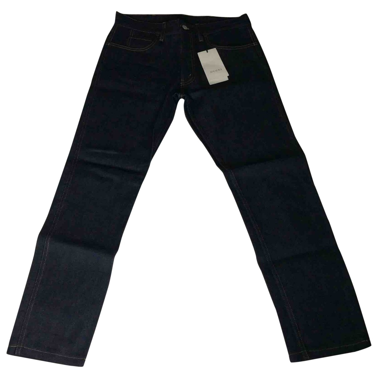 Gucci \N Navy Cotton - elasthane Jeans for Men 30 US