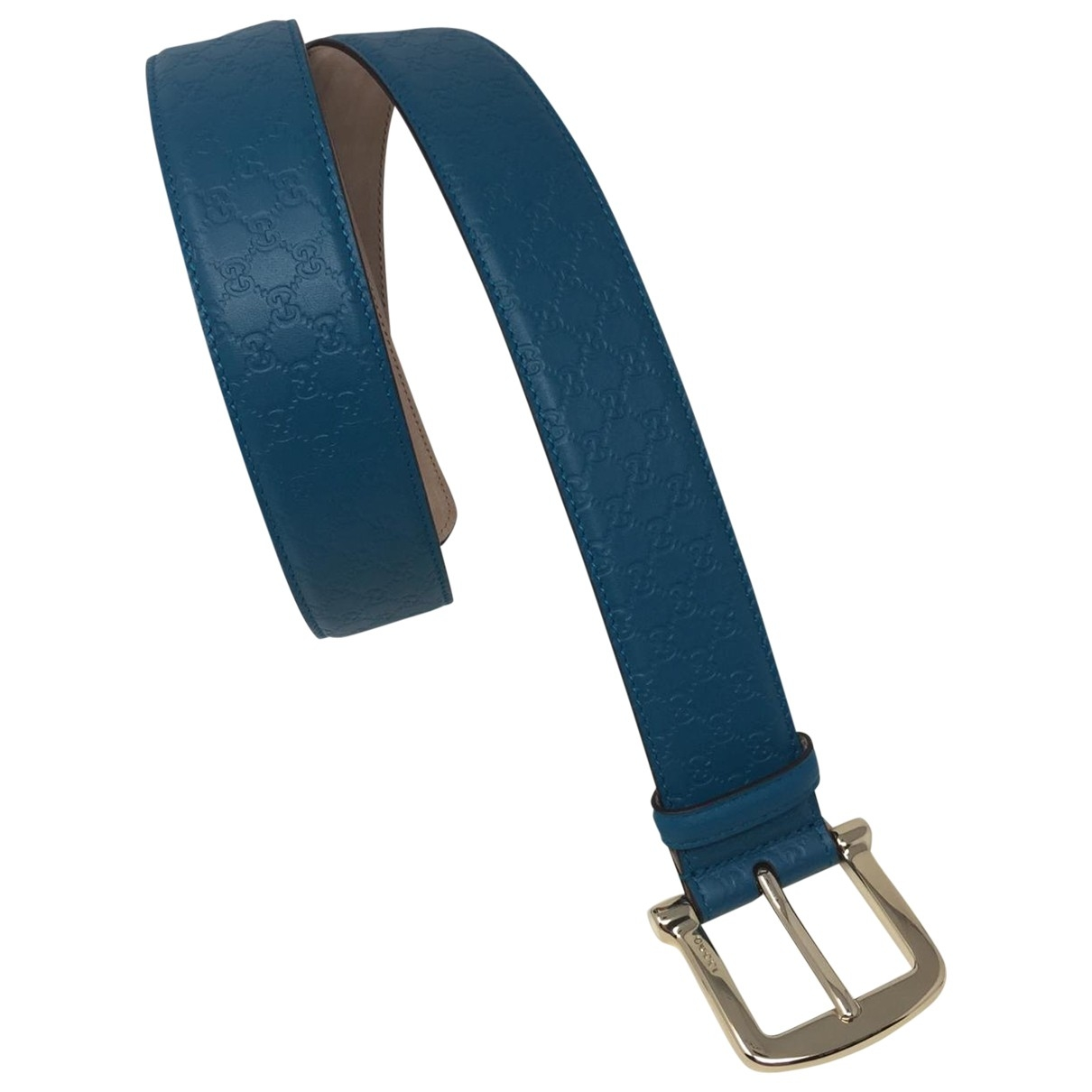 Gucci \N Guertel in  Blau Leder
