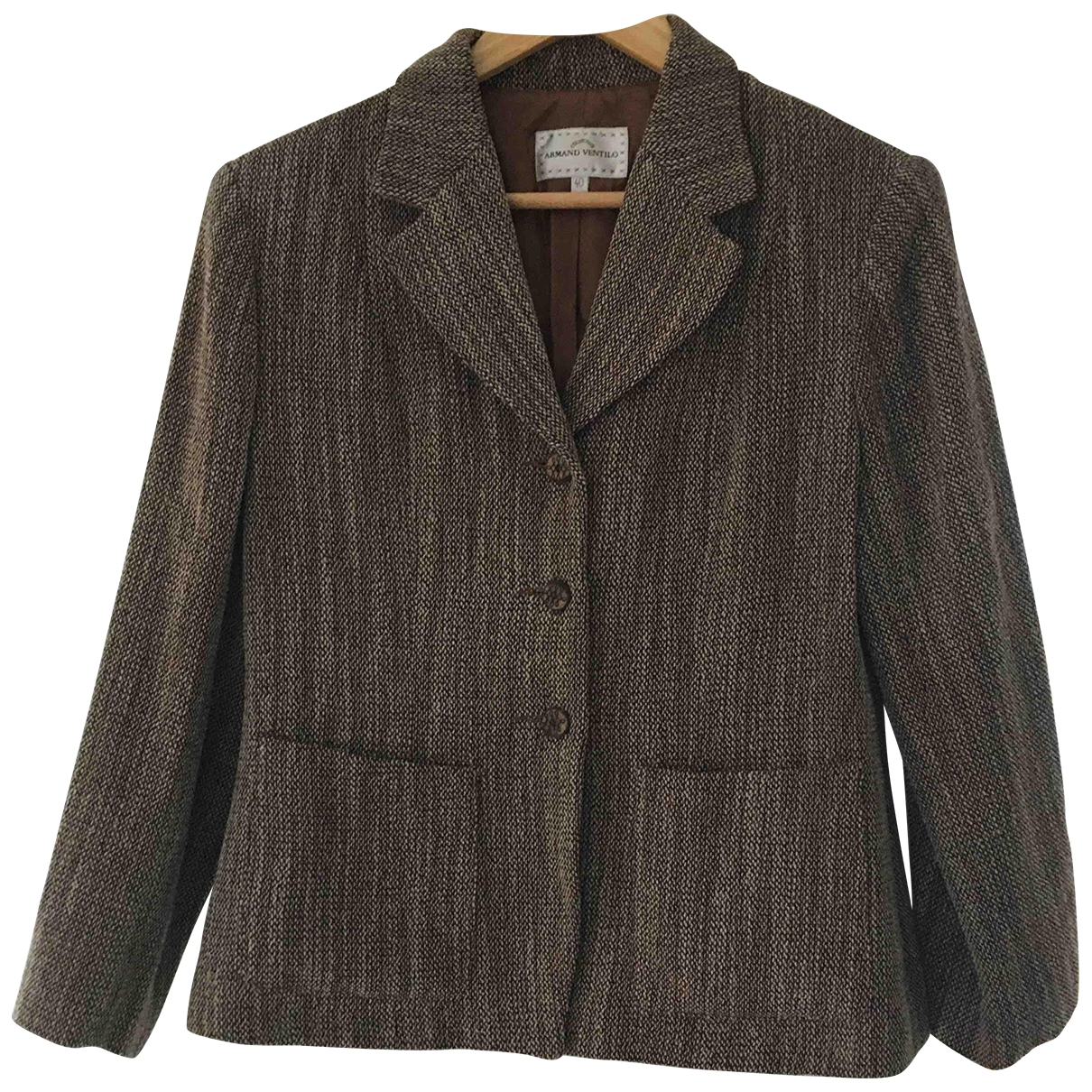 - Veste   pour femme en tweed - marron
