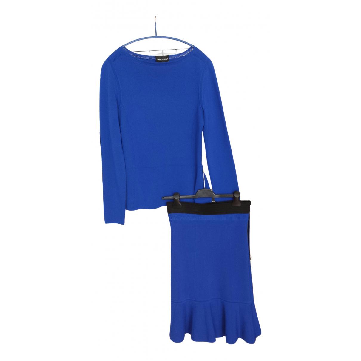 Emporio Armani \N Kleid in  Blau Viskose