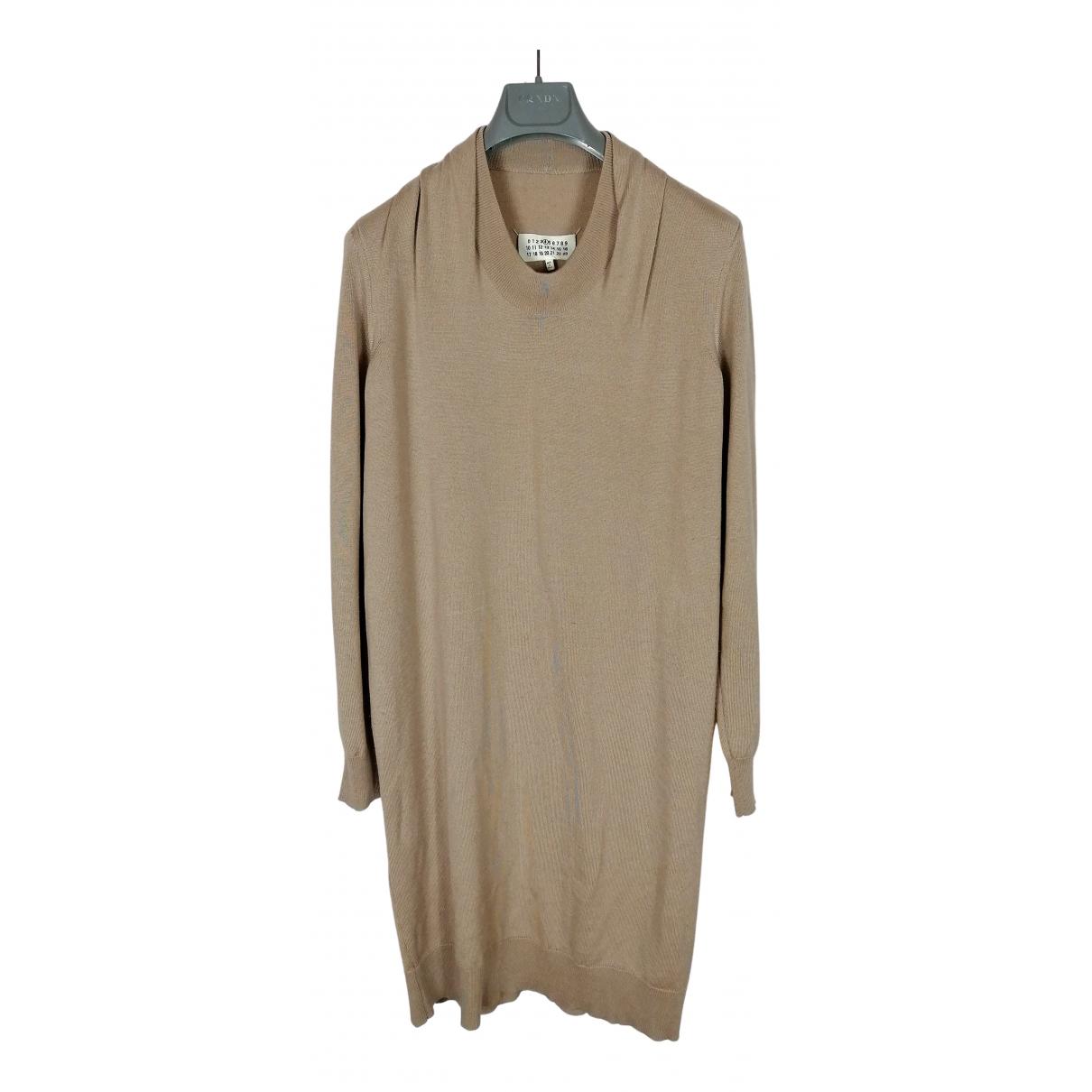 Maison Martin Margiela - Robe   pour femme en laine - beige