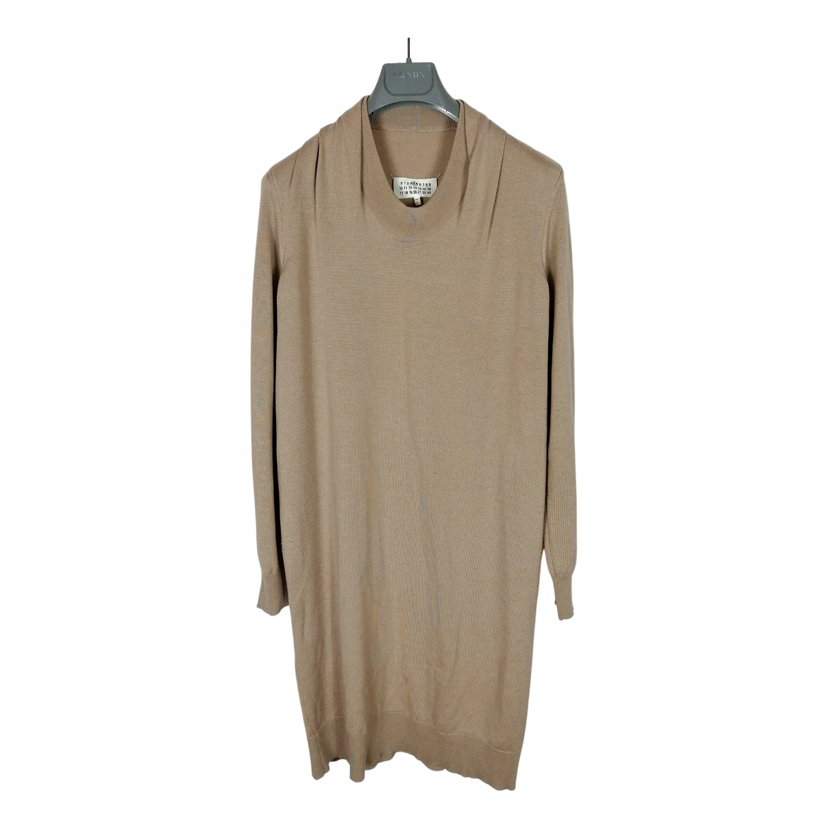 Maison Martin Margiela \N Kleid in  Beige Wolle