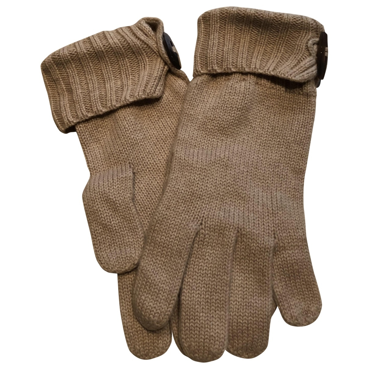 Malo \N Beige Cashmere Gloves for Women M International