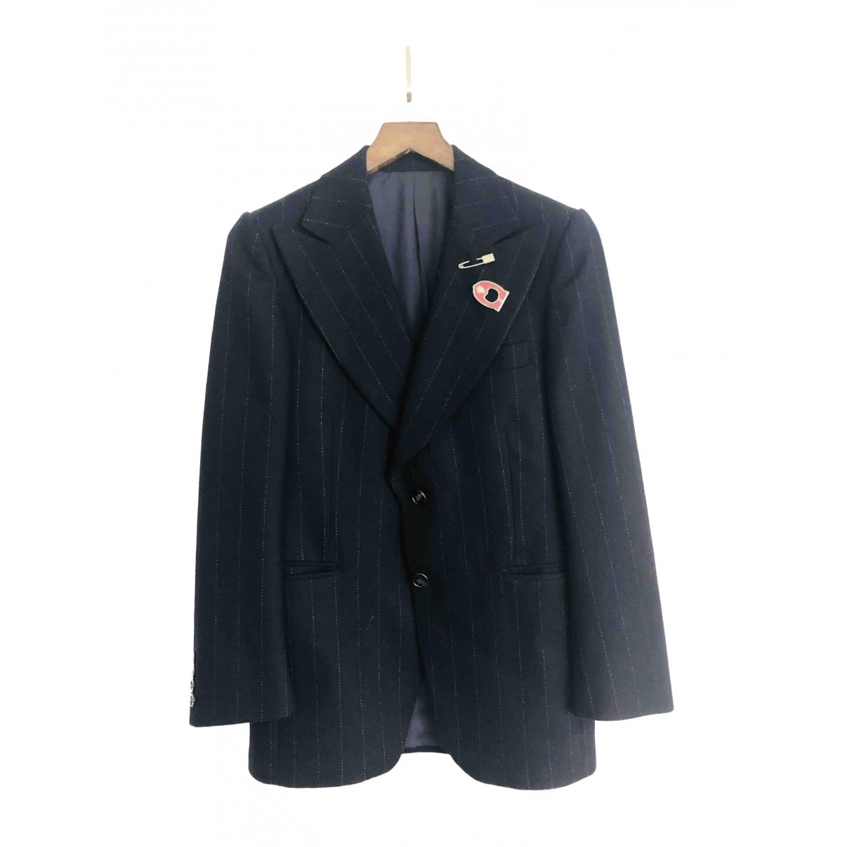 - Veste Oversize pour femme en laine - marine