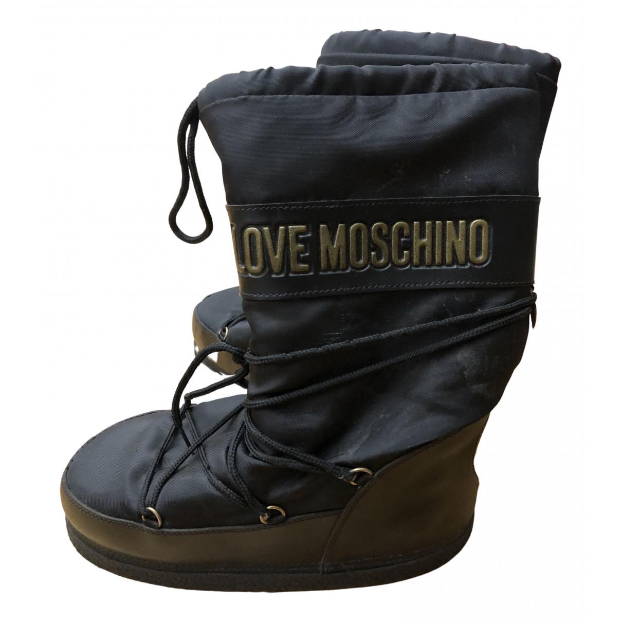 Moschino Love \N Stiefel in  Schwarz Polyester