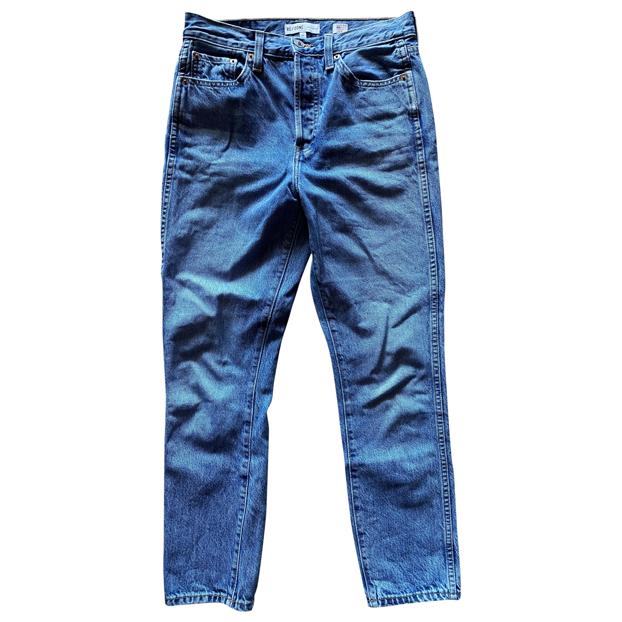 Re/done \N Blue Cotton Jeans for Women 27 US