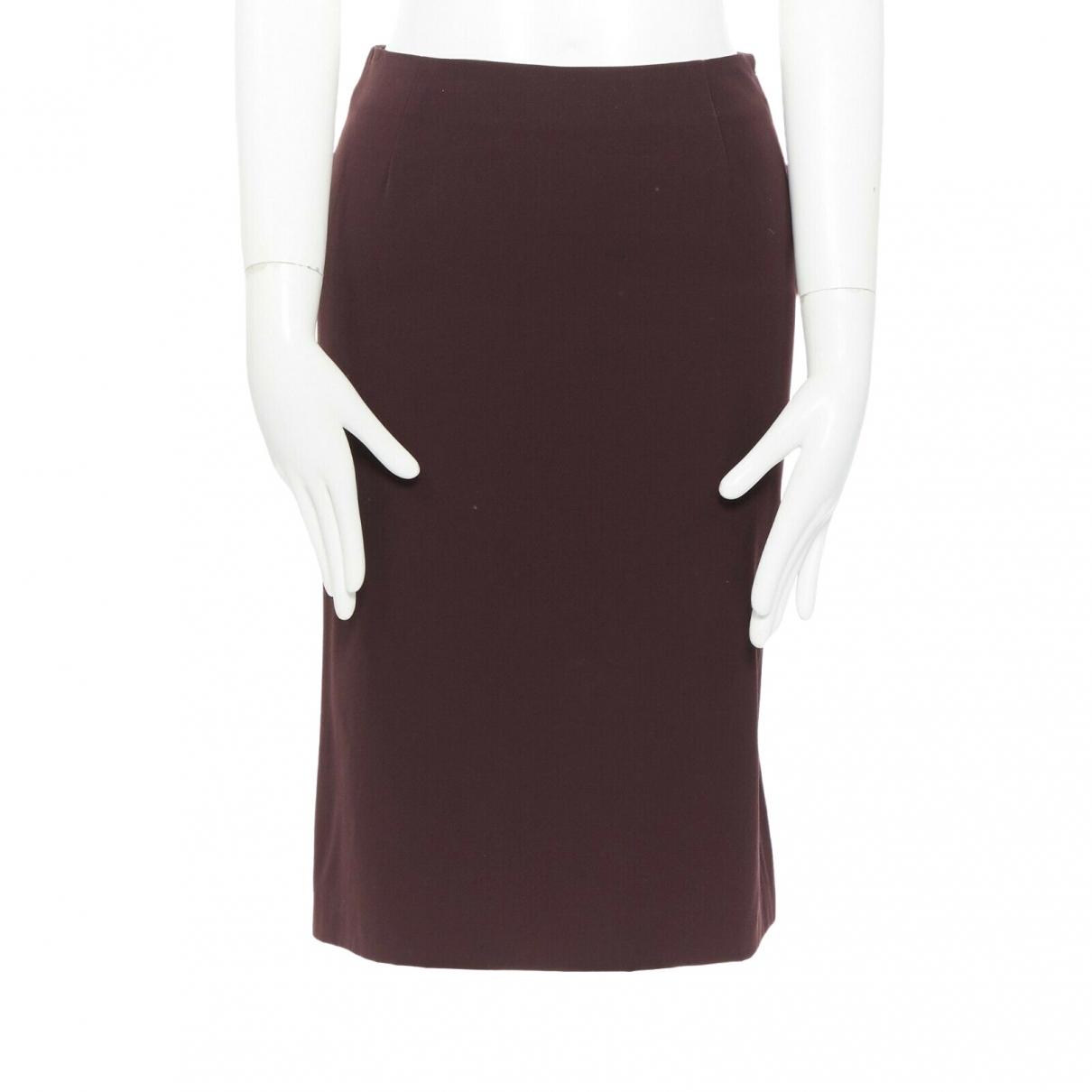 Narciso Rodriguez \N Brown Wool skirt for Women 38 IT