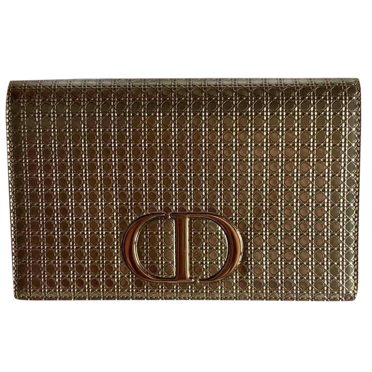 Dior N Gold Leather Clutch bag for Women N