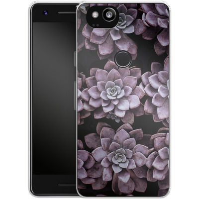 Google Pixel 2 Silikon Handyhuelle - Purple Succulents von caseable Designs