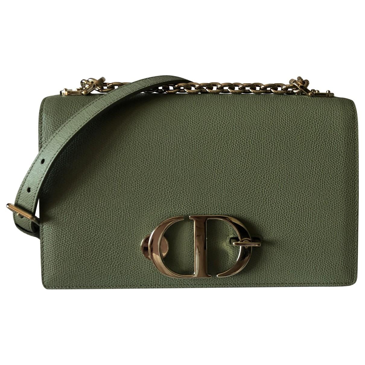 Dior 30 Montaigne Handtasche in  Gruen Leder