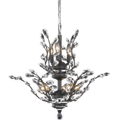 V2011D21DB/EC Orchid 8 Light Dark Bronze Chandelier Clear Elegant Cut