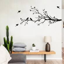 Pegatina de pared de arbol y pajaro