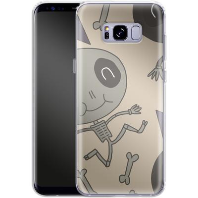 Samsung Galaxy S8 Plus Silikon Handyhuelle - Cartoon Skeleton von caseable Designs