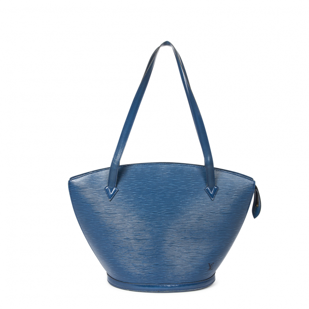 Louis Vuitton - Sac a main Saint Jacques pour femme en cuir - bleu