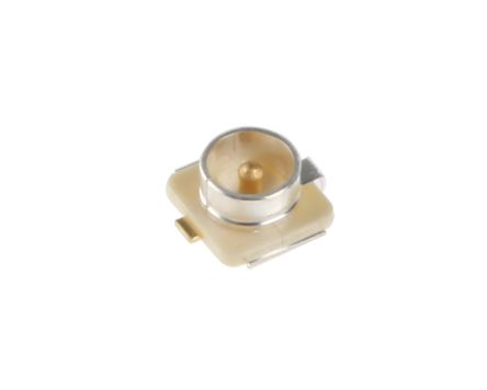 Hirose Straight 50Ω Surface Mount Coaxial Connector, jack, Silver, Solder Termination (5)
