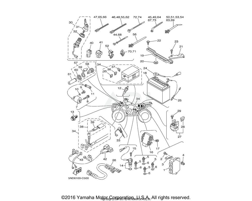 Yamaha OEM 5ND-H2115-00-00 WIRE, PLUS LEAD