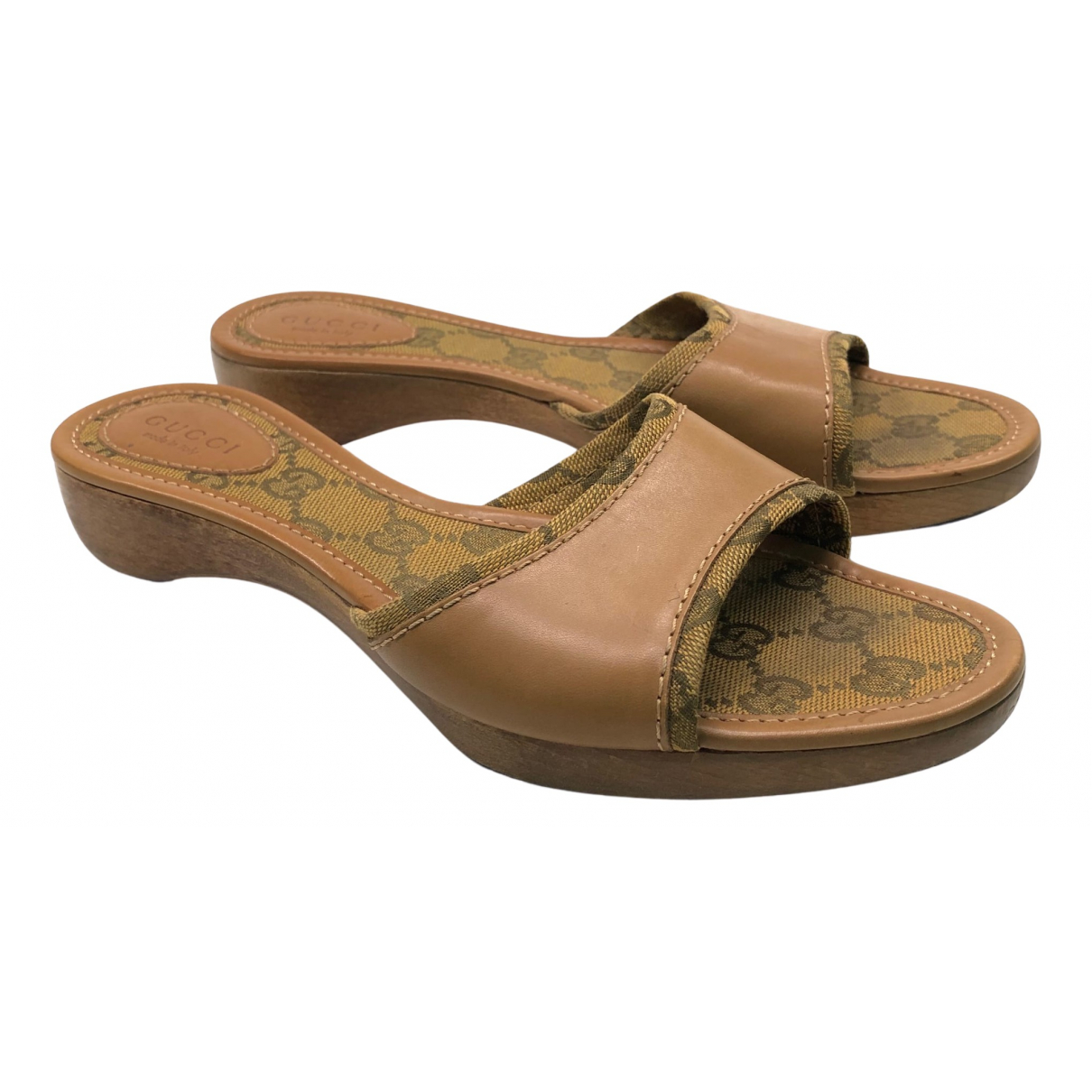 Gucci N Beige Cloth Sandals for Women 36.5 EU