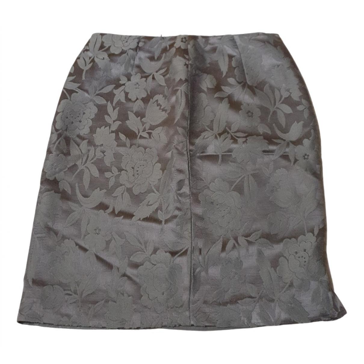 Emporio Armani - Jupe   pour femme en laine - argente