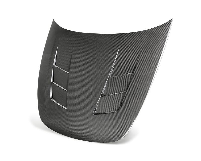 Seibon HD18KIST-TS TS-Style Carbon Fiber Hood Kia Stinger 2018-2020