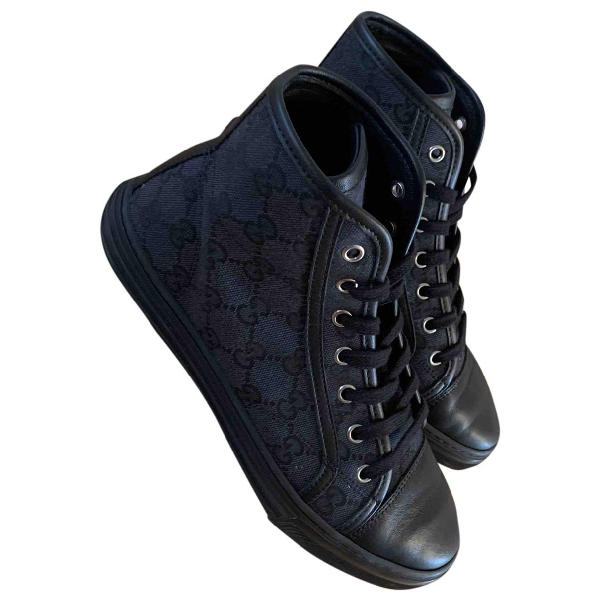 Gucci \N Black Cloth Trainers for Women 37 EU
