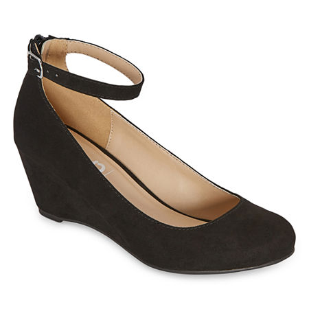 Pop Womens Legacy Closed Toe Wedge Heel Pumps, 8 1/2 Medium, Black