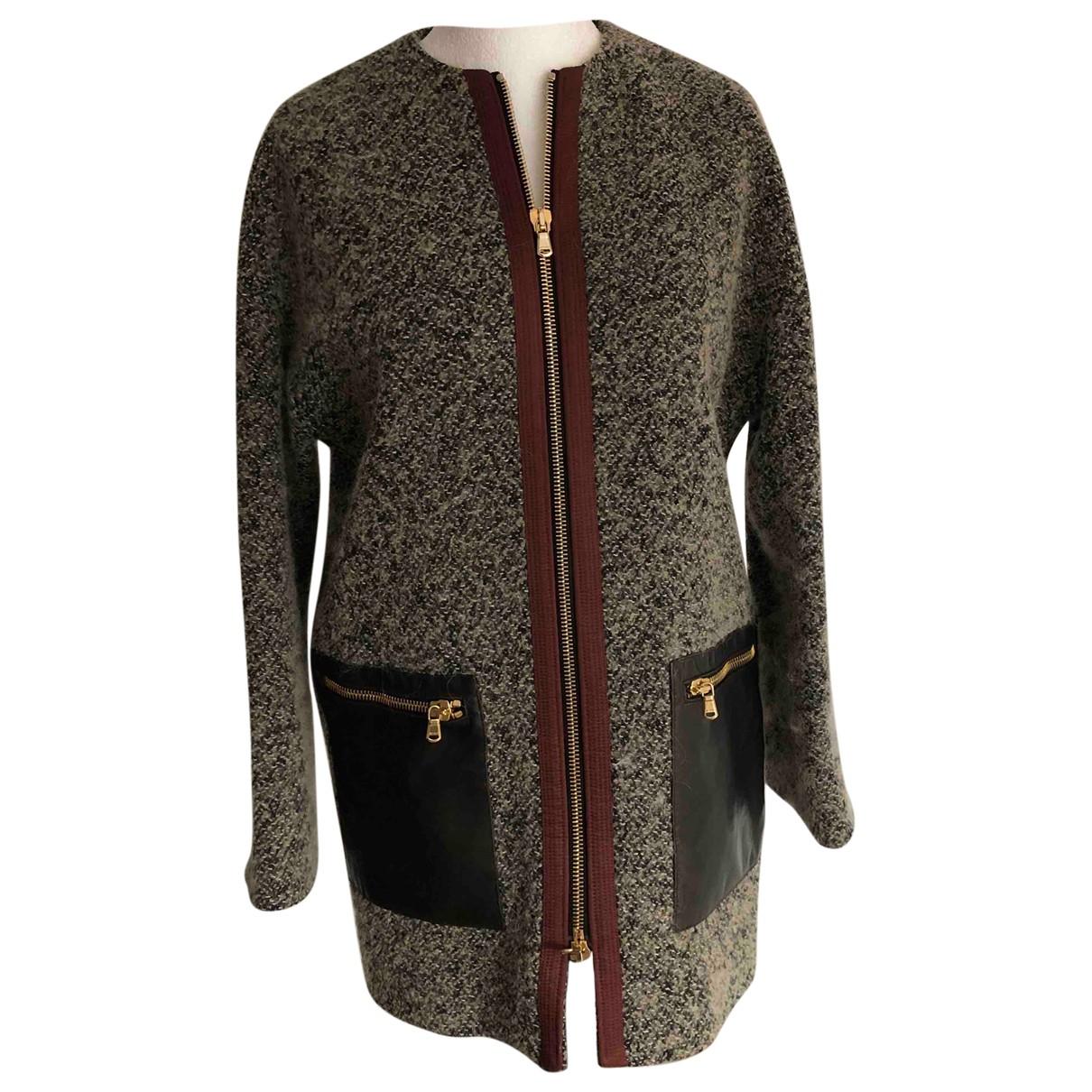 Etro - Manteau   pour femme en laine - marron