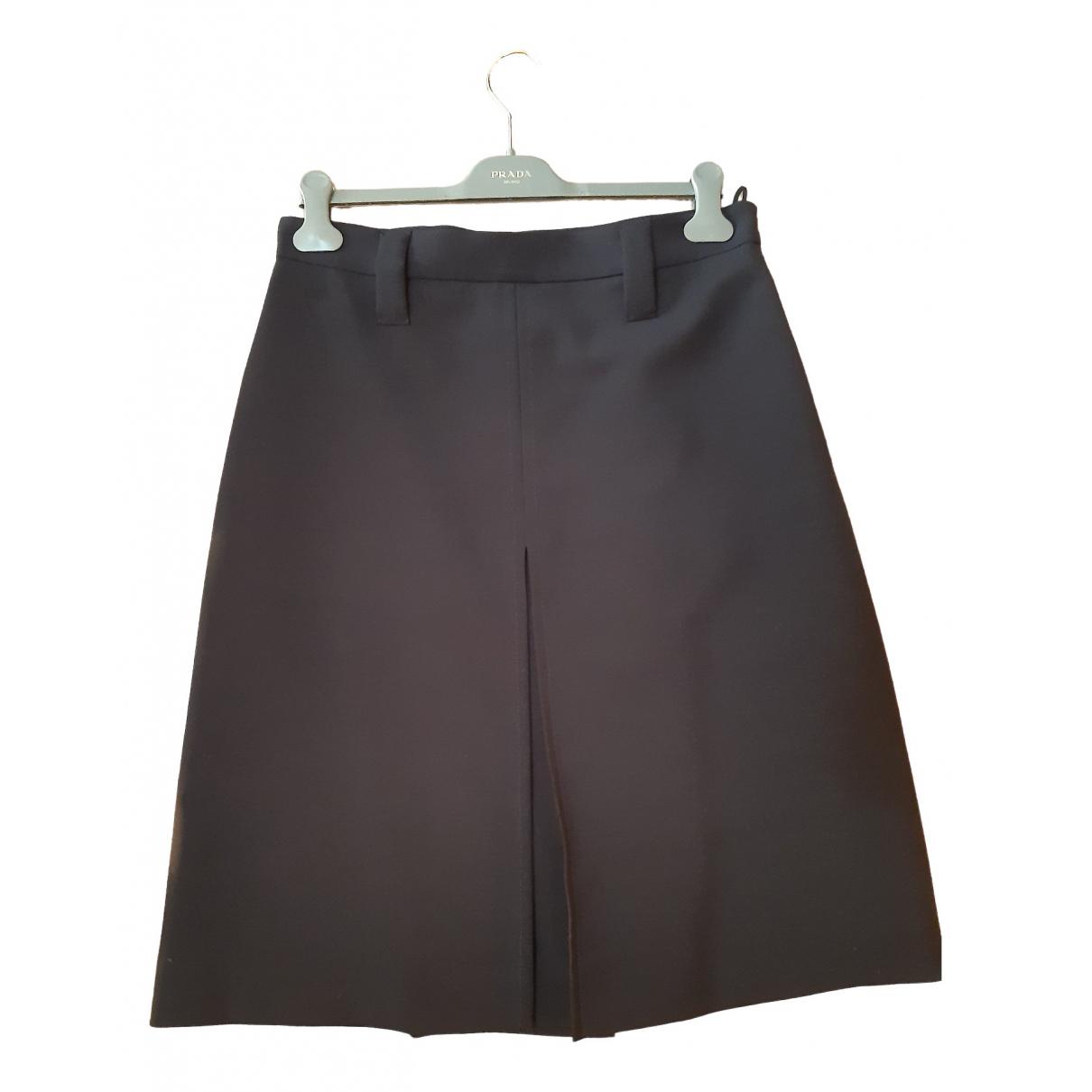 Prada \N Blue Wool skirt for Women 46 IT
