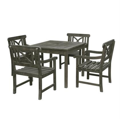 Renaissance Collection V1840SET5 5 PC Outdoor Stacking Dining Set with 35