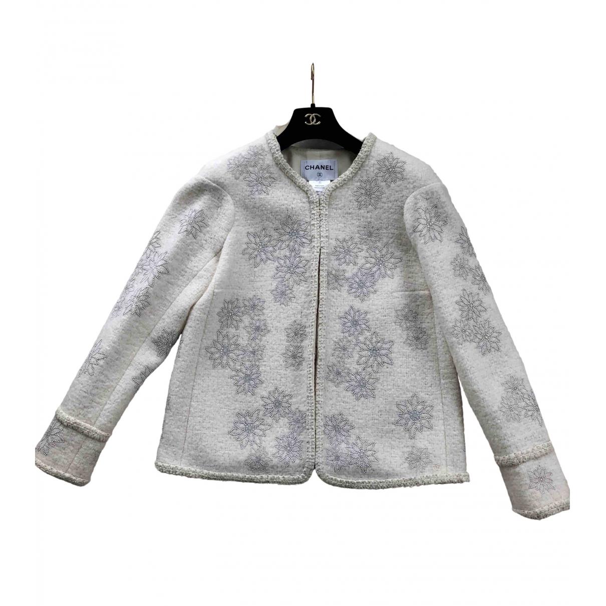 Chanel \N Ecru Wool jacket for Women 44 FR
