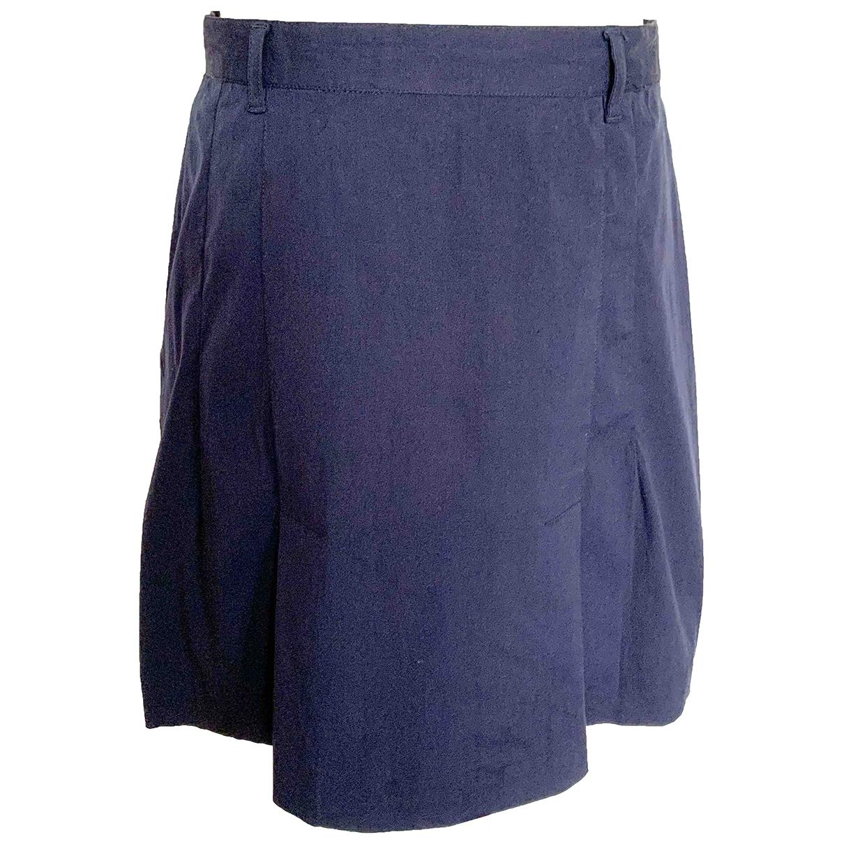 Prada \N Blue Cotton skirt for Women 44 IT