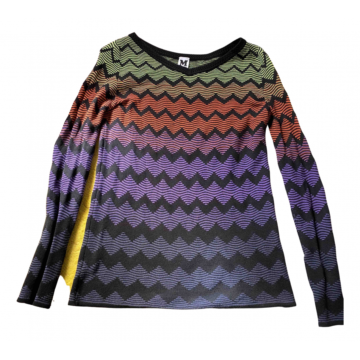 M Missoni N Black Cotton Knitwear for Women 42 IT