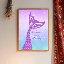 Tail Print Wall Painting Without Frame