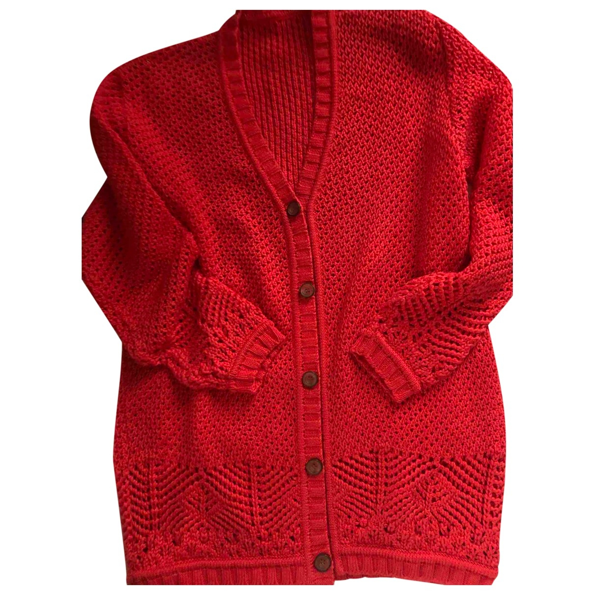 - Pull   pour femme en coton - rouge