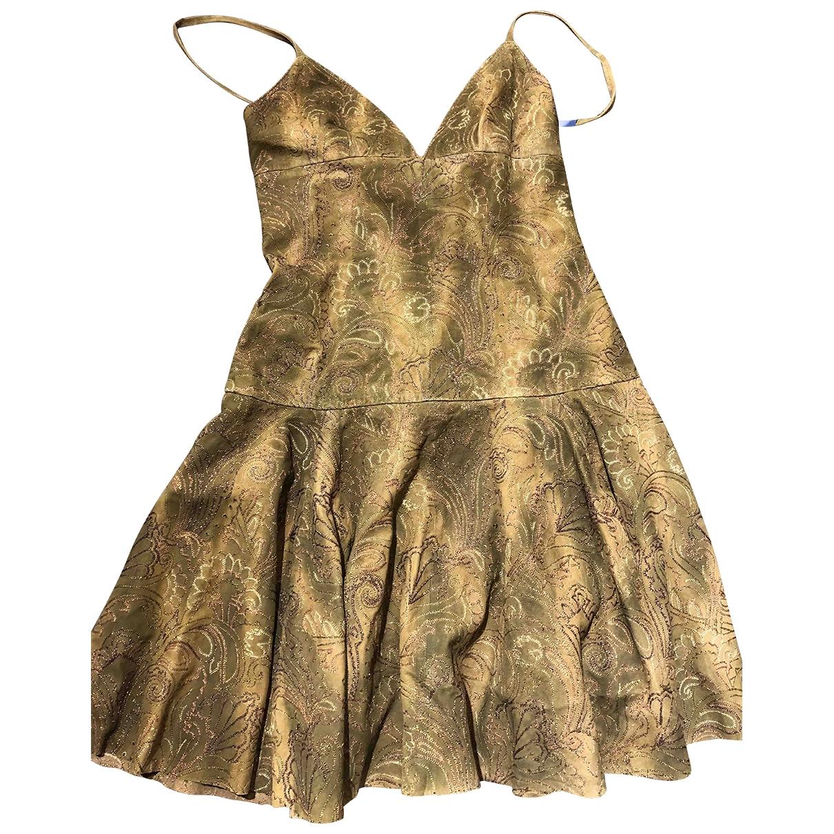 Ralph Lauren - Robe   pour femme en cuir - kaki