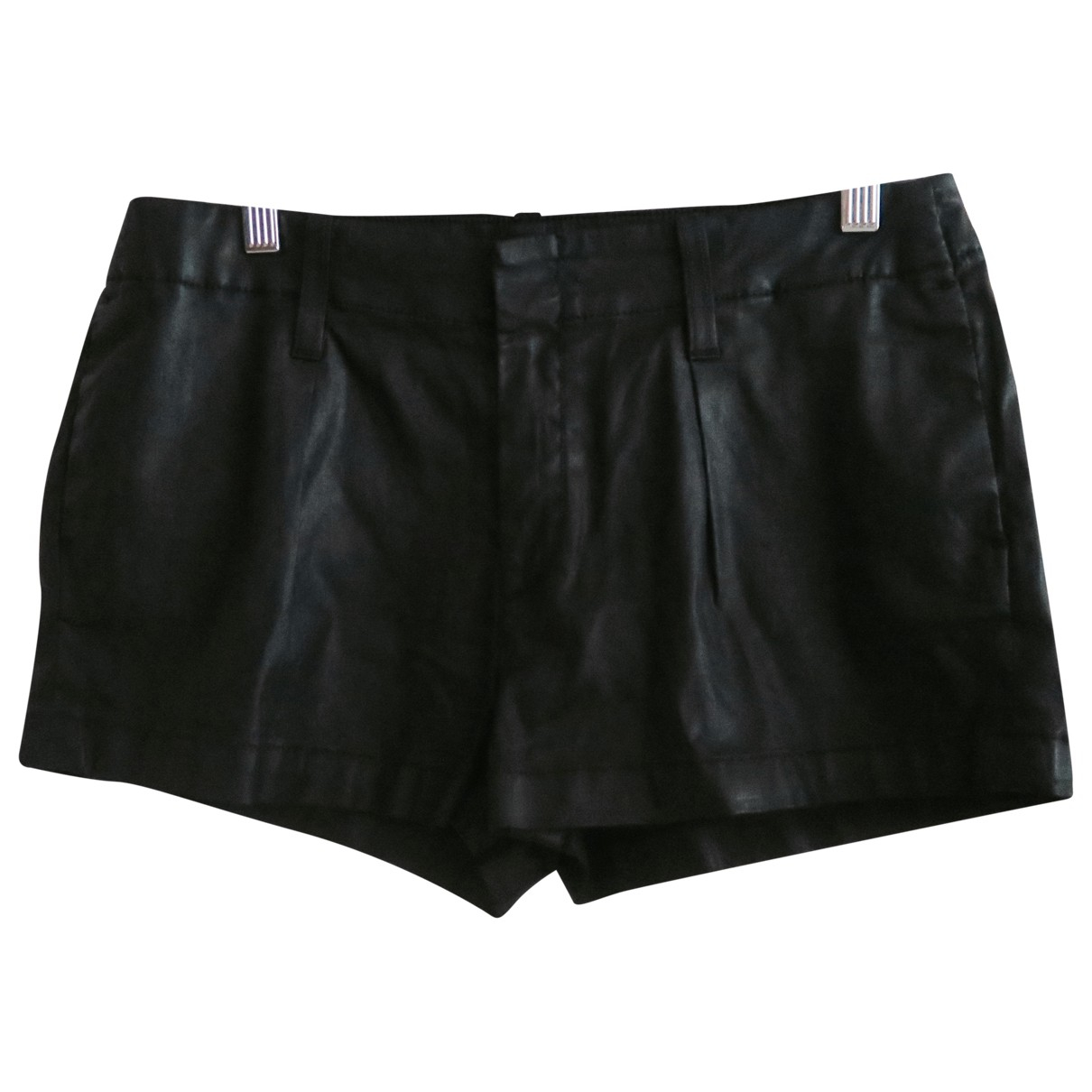 7 For All Mankind \N Shorts in  Schwarz Synthetik