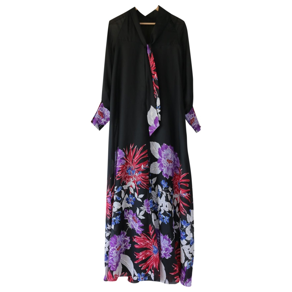 Non Signe / Unsigned Hippie Chic Kleid in  Schwarz Polyester