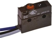 ZF SPDT Button Microswitch, 10 A @ 250 V ac