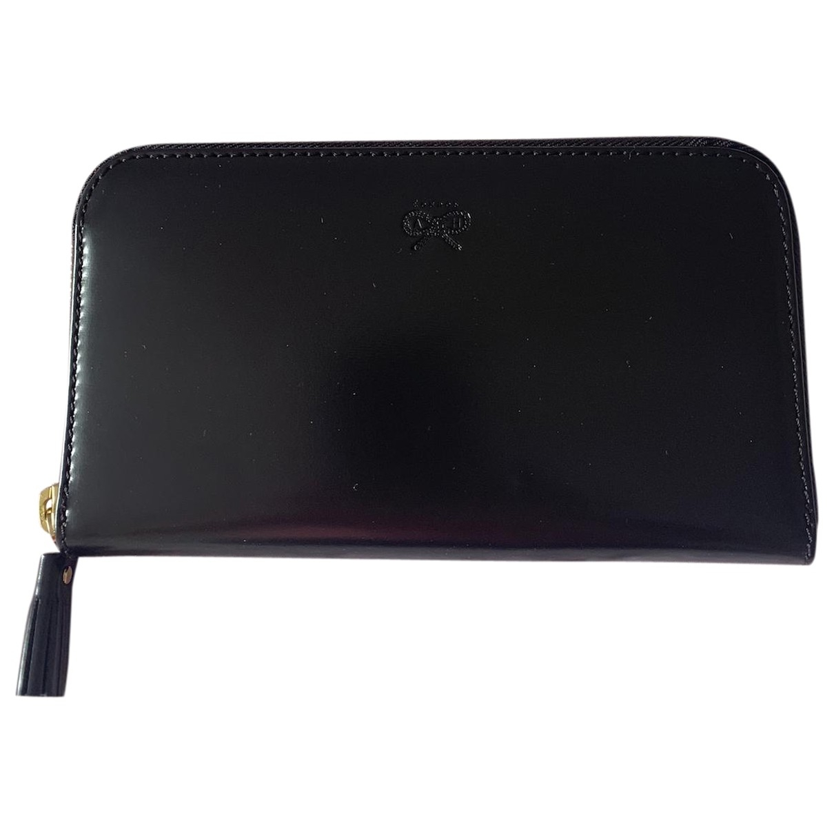 Anya Hindmarch \N Black Leather Purses, wallet & cases for Women \N