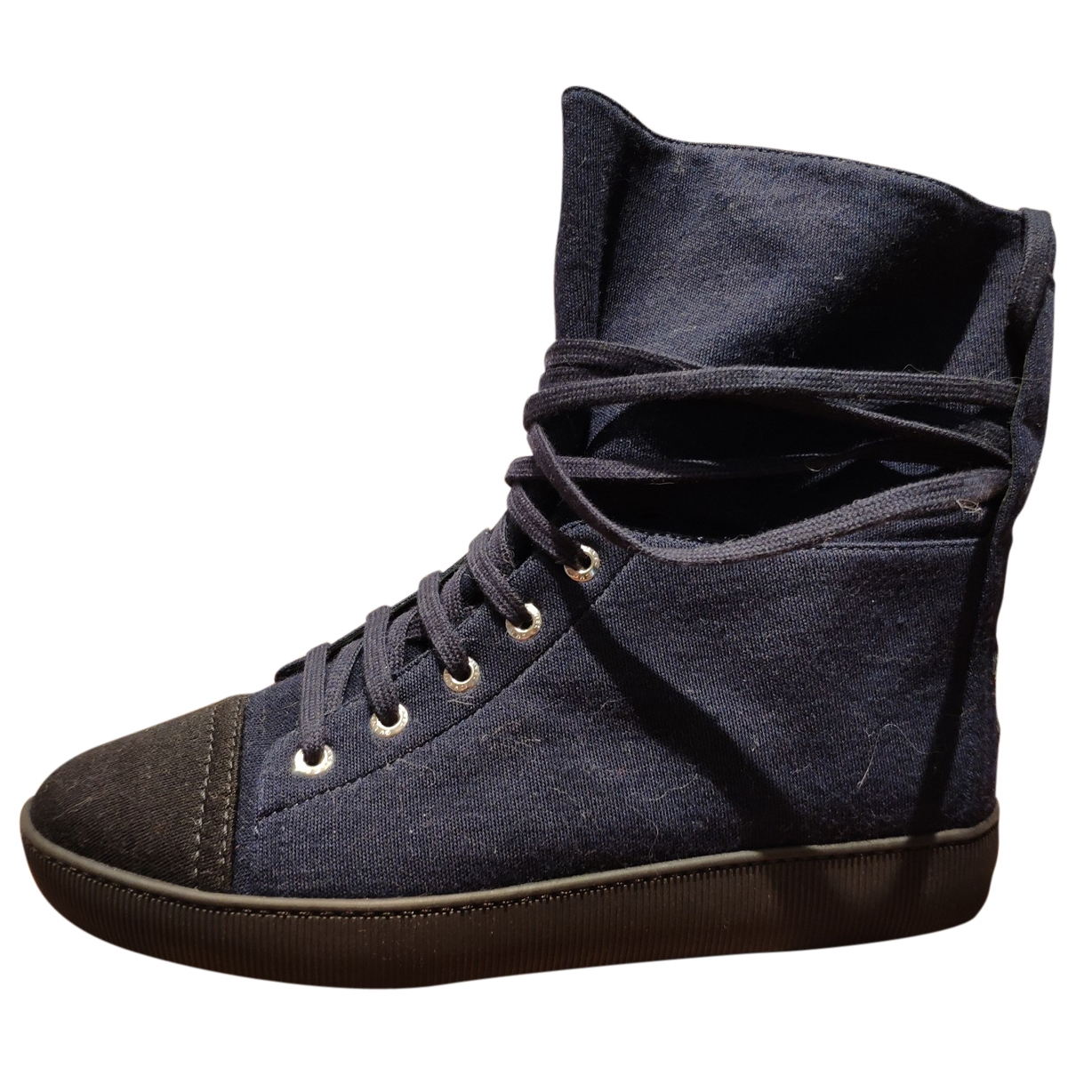 Chanel \N Navy Cloth Ankle boots for Women 37 EU