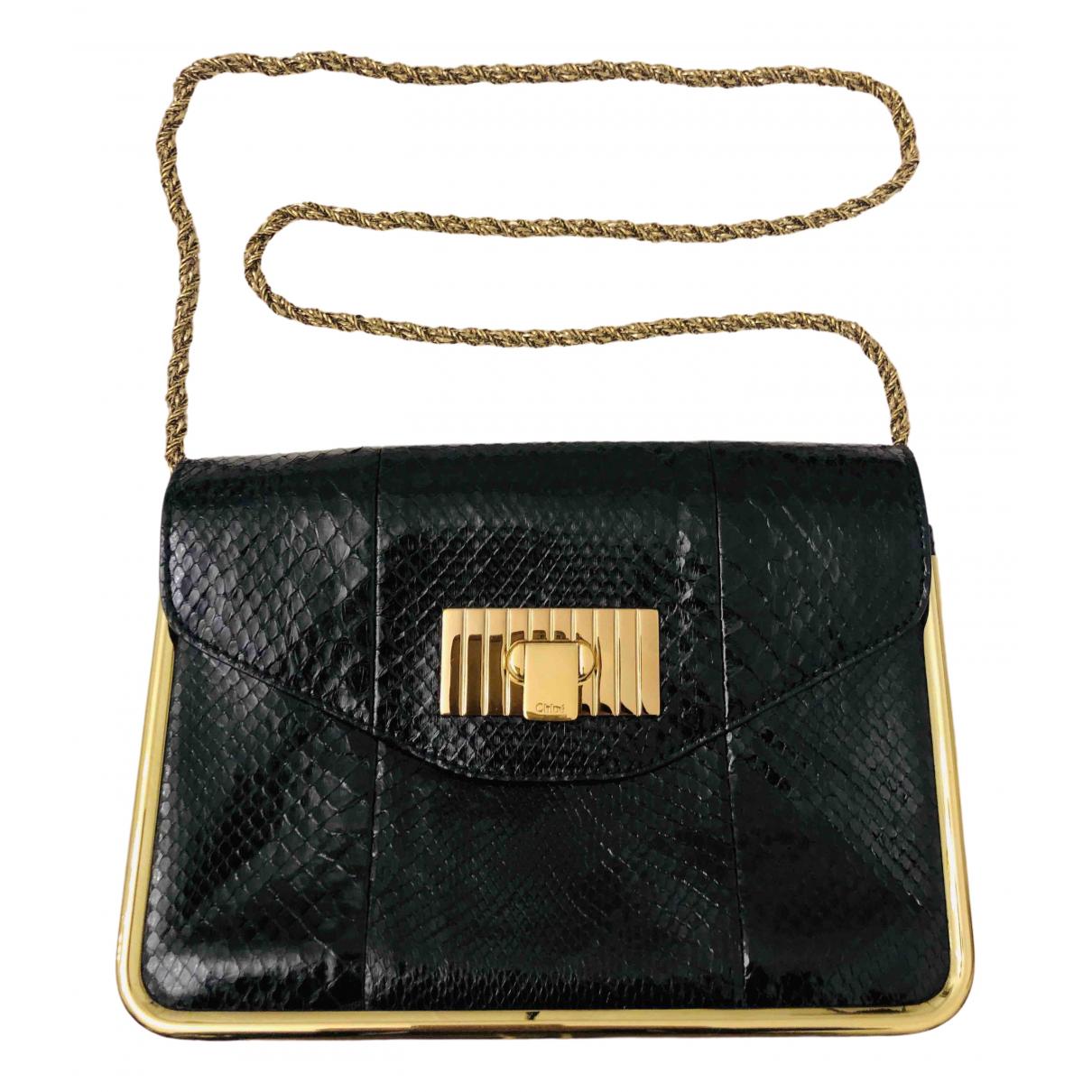 Chloe \N Handtasche in  Schwarz Python
