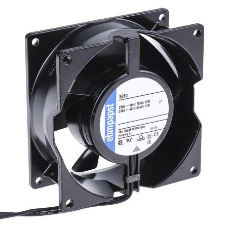 ebm-papst , 230 V ac, AC Axial Fan, 92 x 92 x 38mm, 75m³/h, 12W