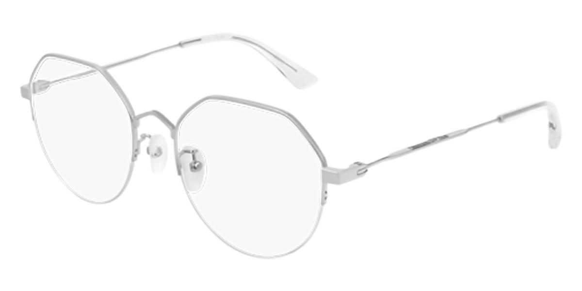 McQ MQ0216OA Asian Fit 003 Men's Glasses Silver Size 53 - Free Lenses - HSA/FSA Insurance - Blue Light Block Available