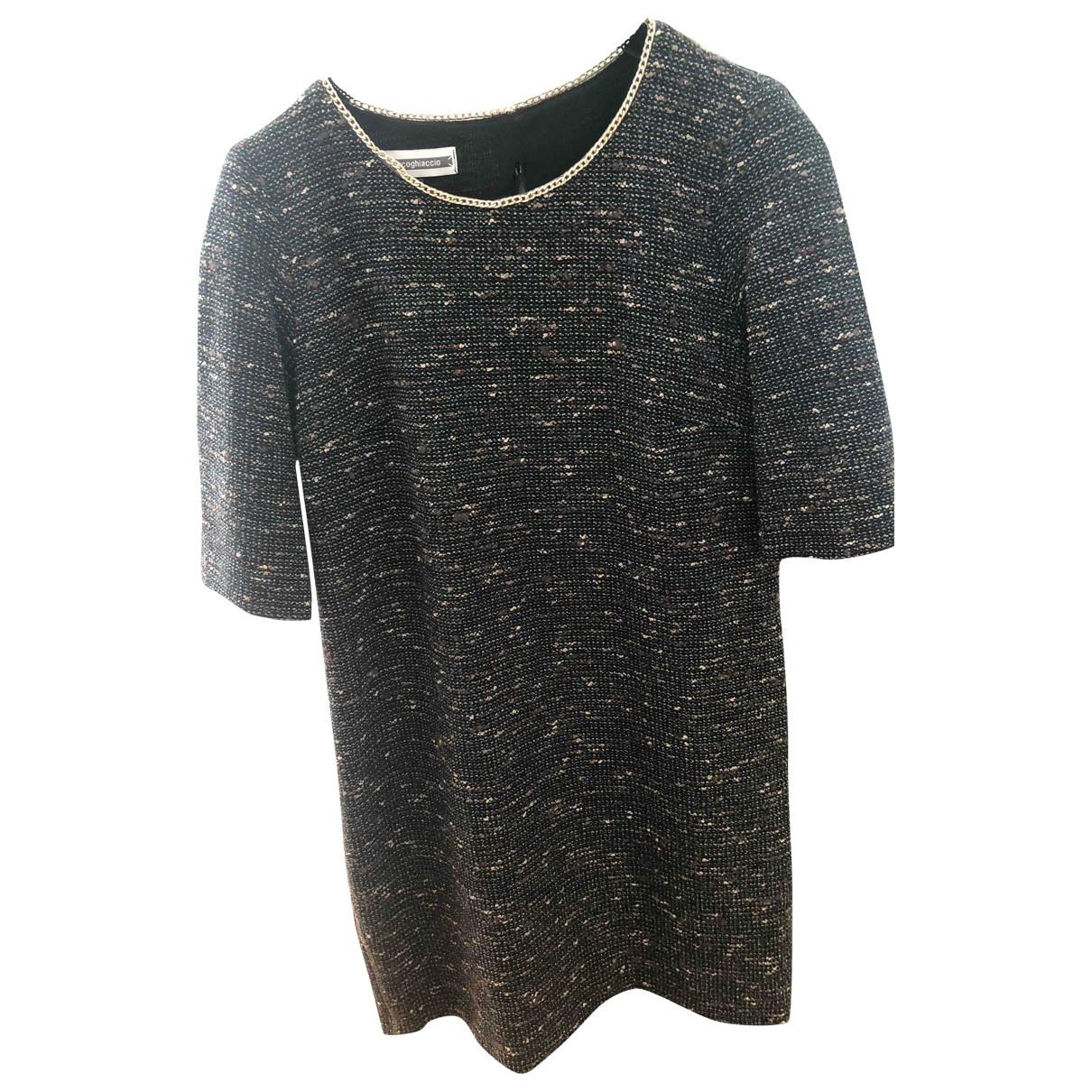 Non Signe / Unsigned \N Kleid in  Braun Wolle