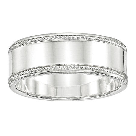 8MM Sterling Silver Wedding Band, 8 , No Color Family