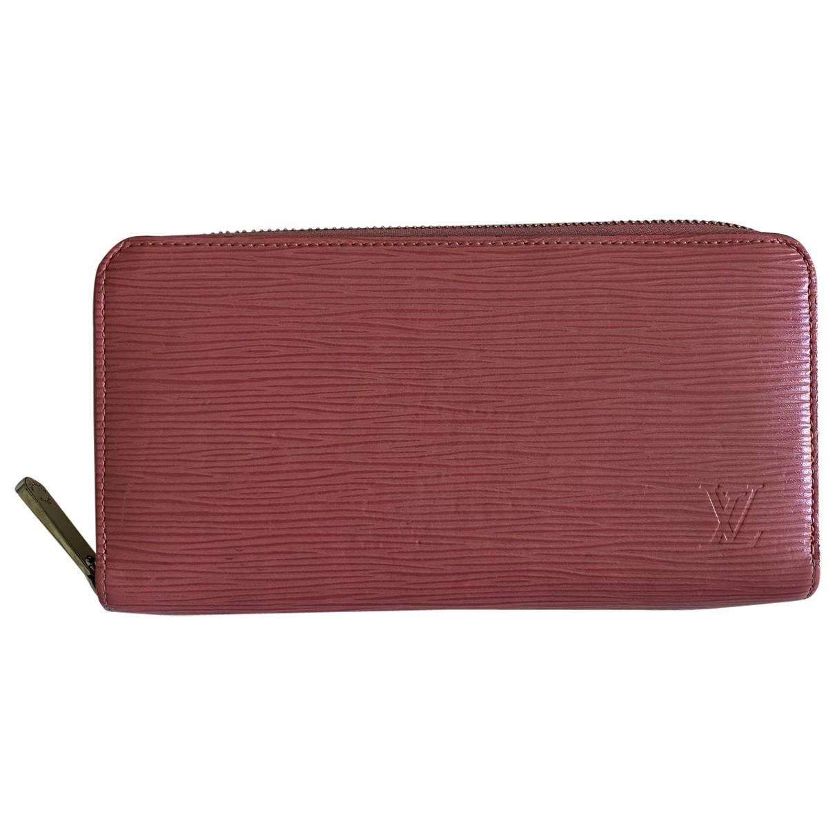 Louis Vuitton Zippy Portemonnaie in  Rosa Leder