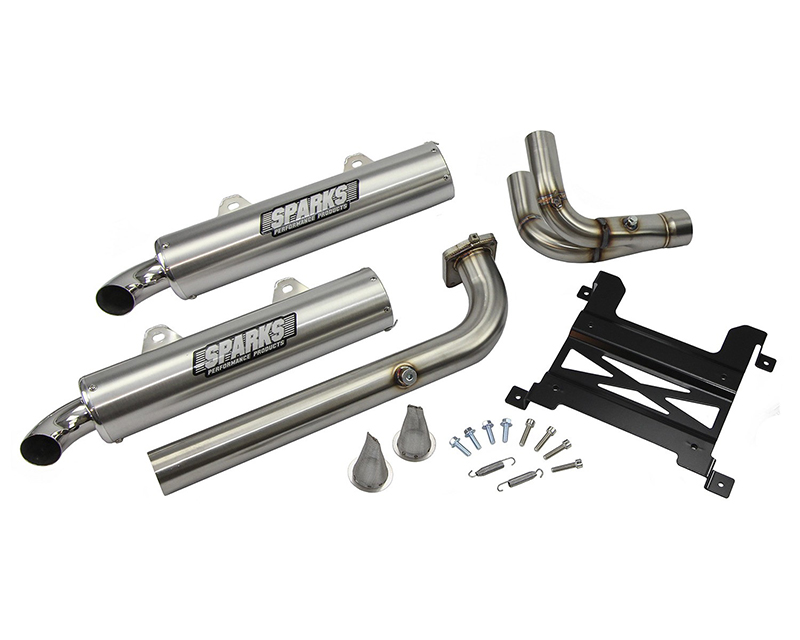 Sparks Racing PP16RZR1000XPT-S X-6 Stainless Steel Exhaust System Polaris RZR XP 4 Turbo 2016