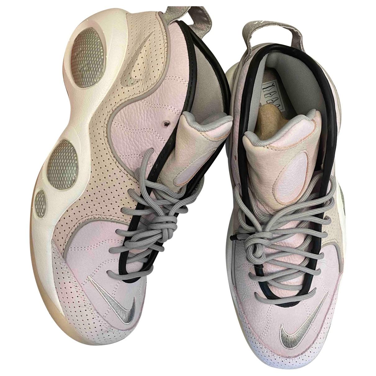 Nike - Baskets Zoom pour homme en cuir - rose