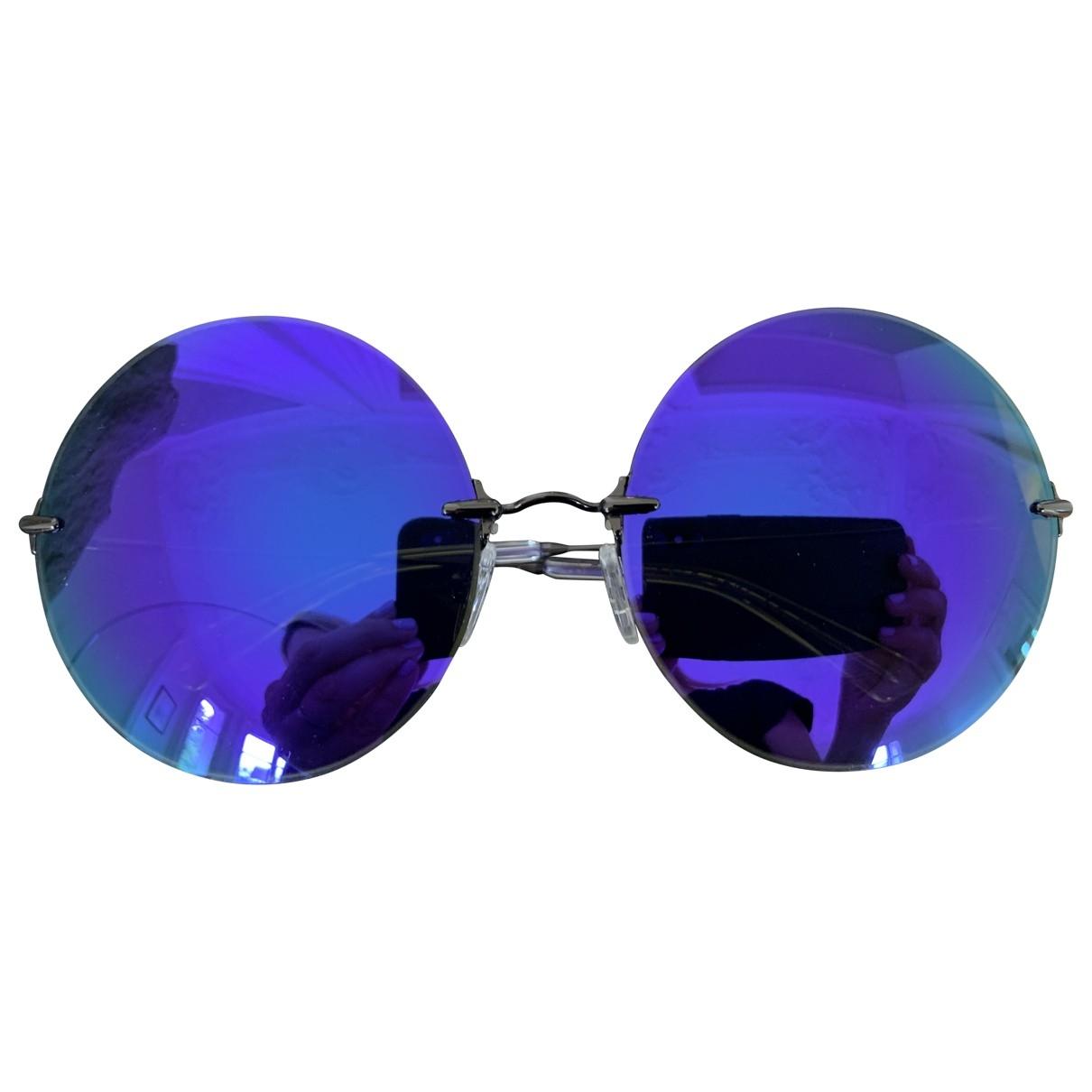 Christopher Kane \N Sonnenbrillen in  Lila Metall